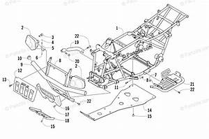 Arctic Cat Atv 2003 Oem Parts Diagram For Frame And Related Parts