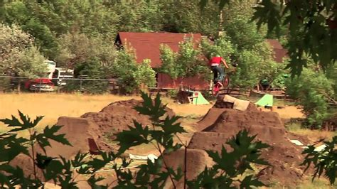 Bmx Dirt Jumping  Brian Banghart's Backyard Trails Youtube