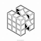 Rubiks Cube Coloring Template sketch template