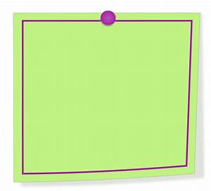 Clipart - Green and purple note