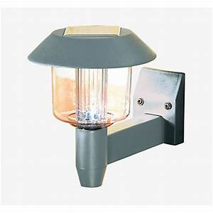 soft glow solar wall light silver 165cm at homebase With homebase outdoor lighting sale