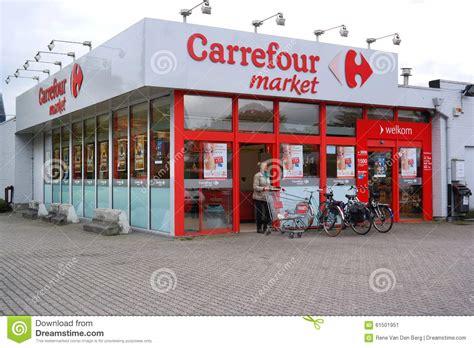 carrefour market  belgium editorial photo image