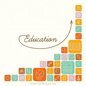 Education icons background Vector | Free Download