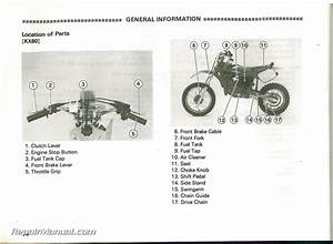 Used 1998 Kawasaki Kx60 Kx80 Kx100 Owners Manual