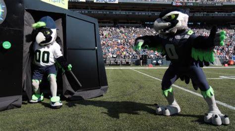 seahawks mascot blitz   sidekick boom