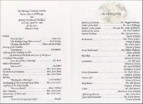 wedding reception program sle wedding reception program wedding ideas receptions wedding reception and
