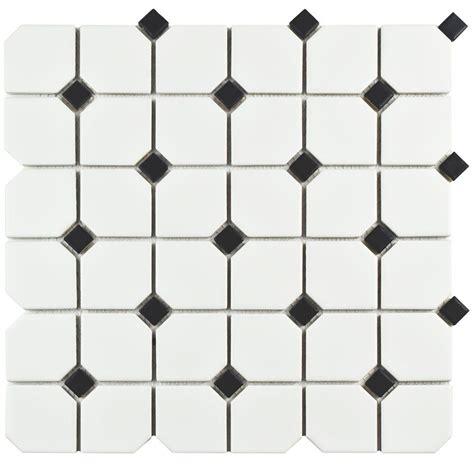 Home Depot Merola Lantern Ceramic Tile by Merola Tile Metro Lantern Matte White 9 3 4 In X 10 1 4