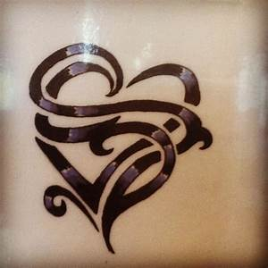 """Heart tattoo with the letter """"R"""" and """"L"""". I don't really ..."""