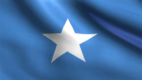 Flag Of Somalia. Rendered Using Official Design And Colors