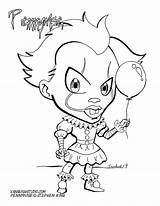 Coloring Pennywise Chibi Fusion Printable Marvel Popular Vanquish Studio Characters sketch template