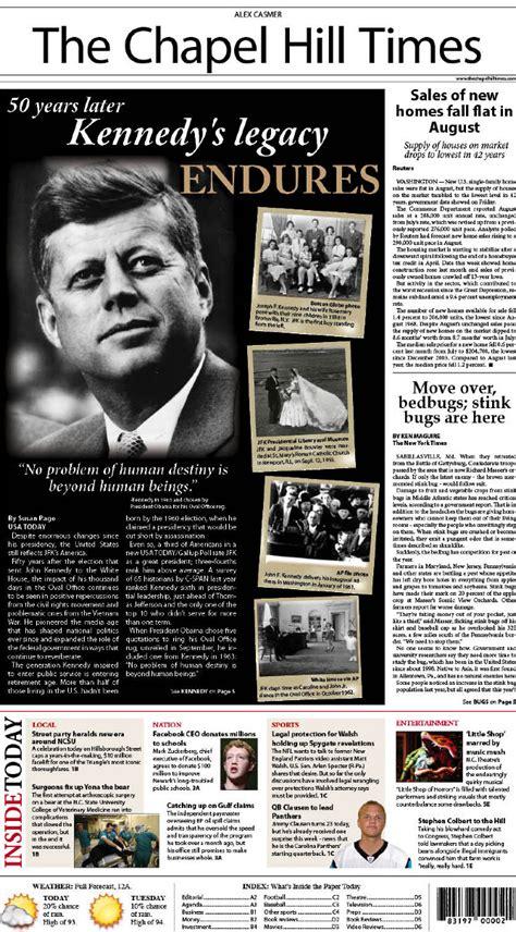 front page news design alex casmer
