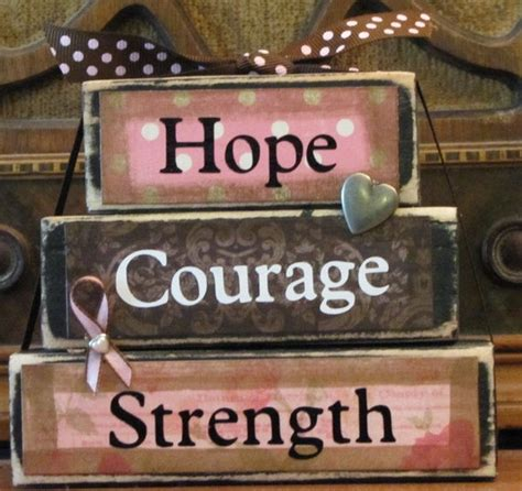 hope courage strength breast cancer  punkinseedproduction