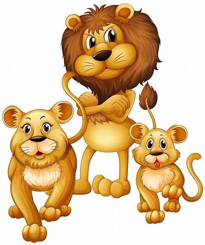 Lion Cub Vector Illustration Cartoon Animals Lioness