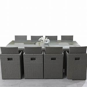 Salon Jardin Resine Tressée : table et chaises en resine tressee pas cher les cabanes ~ Premium-room.com Idées de Décoration