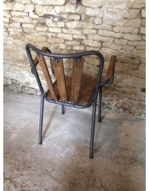 92 Chaise Bistrot Bois Metal  Chaise Bistrot Industrielle