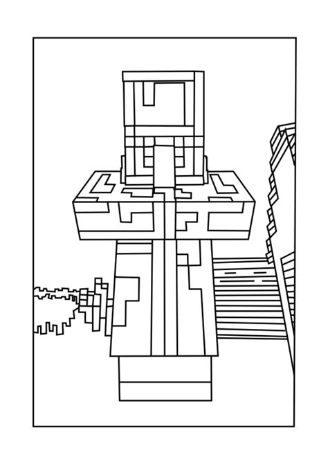 Minecraft Coloring by Villager Chicken Minecraft Coloring Pages Free Printable
