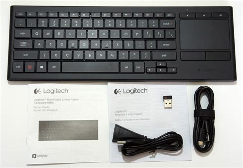 Logitech Illuminated Living Room Wireless Keyboard K830 Manual by Review Logitech K830 Illuminated Living Room Wireless