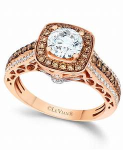 Rose Gold Rings: Strawberry Rose Gold Rings With Chocolate ...