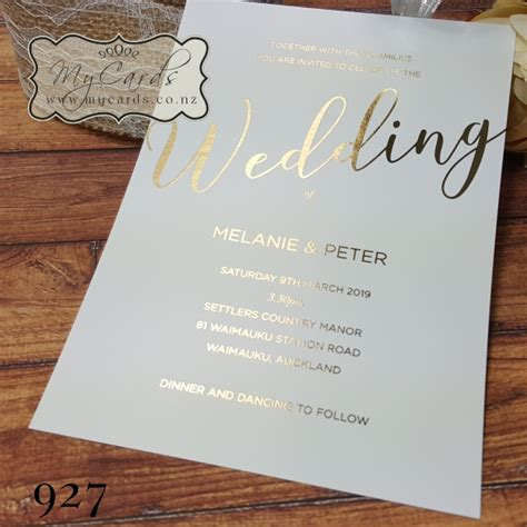 elegant gold foil wedding invitation design 927 mycards