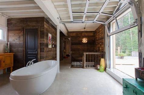 glass garage door ideas  rock   interiors digsdigs