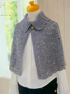 Women U0026 39 S Crochet Cape With Collar Japanese Pattern With