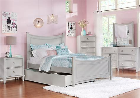 Jaclyn Place Gray Pc Twin Panel Bedroom