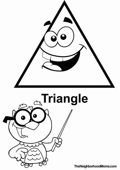 Triangle Printable Shapes Coloring Pages Preschool Template