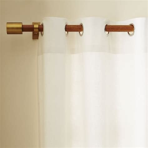 linen cotton grommet curtain white west elm