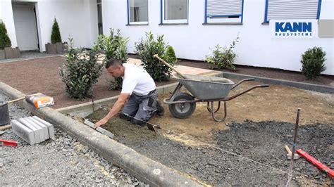 granit randsteine setzen anleitung randsteine setzen