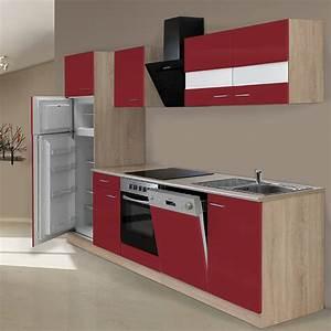 Küchenzeile 280 Cm : respekta k chenzeile kb280esrcgke breite 280 cm rot bauhaus ~ Frokenaadalensverden.com Haus und Dekorationen