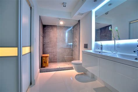modern bathroom designs Bathroom Contemporary with double