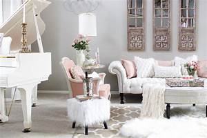 Romantic Blush Pink Living Room: Valentines Day Decor