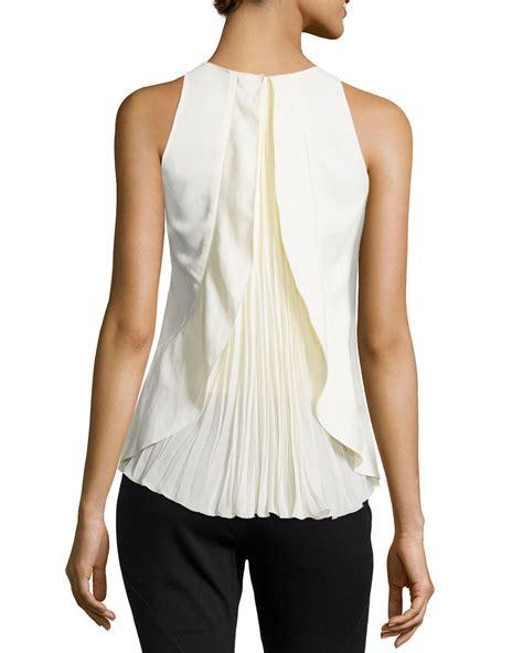 ruffle pleated blouse philosophy di alberta ferretti sleeveless pleated back