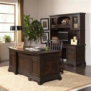 Executive Desk with Credenza and Hutch