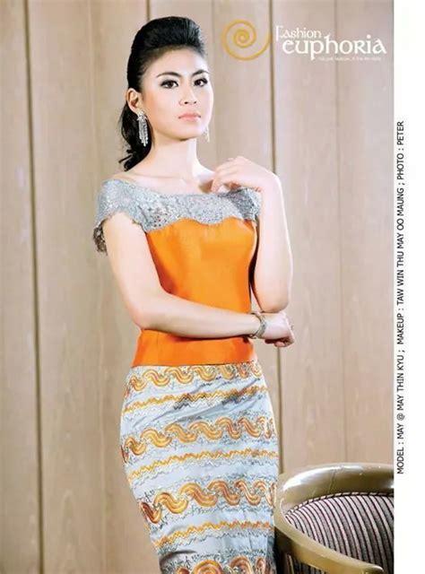 myanmar dress images  pinterest traditional