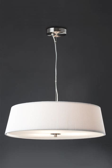 prosa suspension design ronde plate tissu pliss 233 blanc faro style design et contemporain