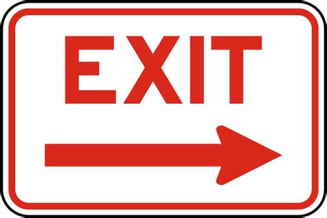 exit light enter exit right arrow sign w5404 by safetysign