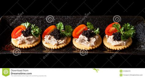 canape biscuit canape stock photo image of gourmet canape pasley