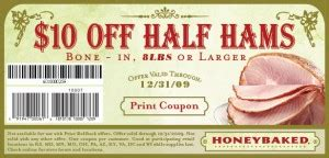 honey baked ham printable coupons honeybaked ham save 10 a buck 22132 | honey baked ham online printable coupon 300x144