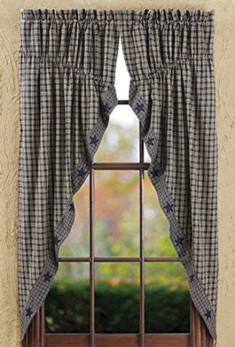 Blue Swag Curtains by Details About New Primitive Country Cottage Navy Blue
