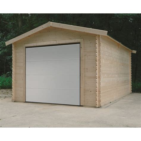 garage avec porte sectionnelle motoris 233 e 15 68m 178 madriers 28mm solid