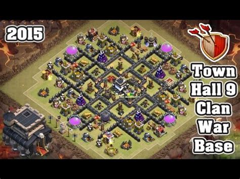 9 epic th9 war base clash of clans th9 clanwar base videolike 9 ep