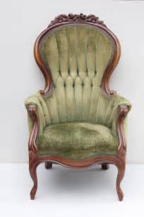 Sessel Vintage Stil by Vintage Chair With Tufted Green Chenille Upholstery