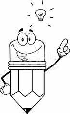 Comic Figuren Schwarz Weiß : black and white pencil cartoon character with a big idea ~ Watch28wear.com Haus und Dekorationen