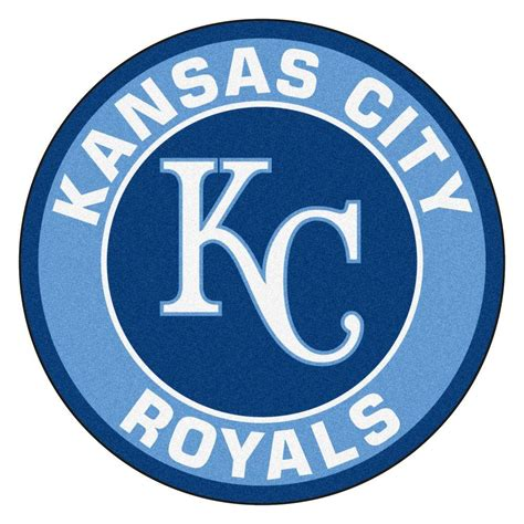 fanmats mlb kansas city royals blue 2 ft x 2 ft round area rug 18137 the home depot