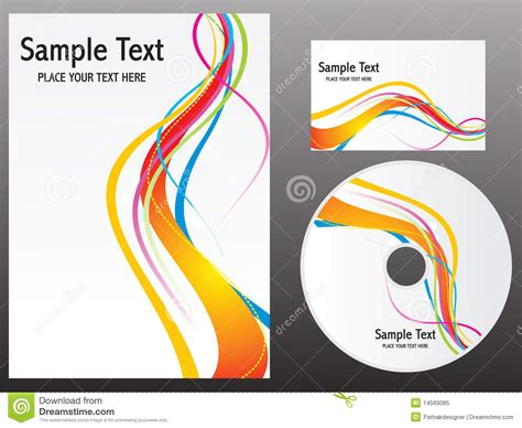 Abstract Colorful Rainbow Design Templates Royalty Free