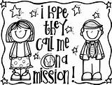 Coloring Mission Hope Call Lds Melonheadz Missionary Clip Missionaries Clipart Primary Illustrating March Conference sketch template