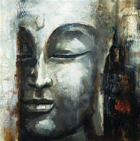hand painted  piece group set modern abstract buddha oil