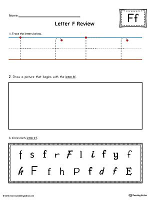 say and trace letter f beginning sound words worksheet myteachingstation