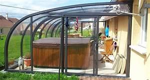 Abri De Terrasse Retractable : abri de spa l mod le adoss coulissant saphir l v roka ~ Dailycaller-alerts.com Idées de Décoration